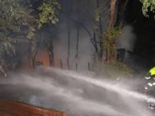 Chalet op camping in Maasdriel verwoest door brand