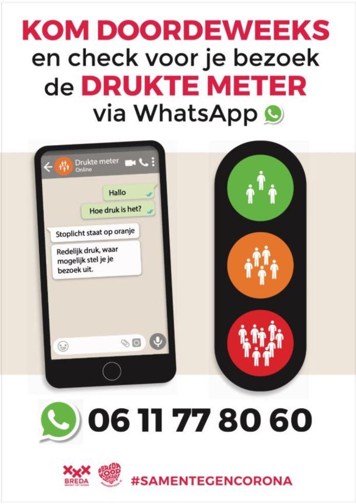 De gemeente Breda zet de Drukte Meter in om beter zicht te krijgen op het bezoek aan de binnenstad.