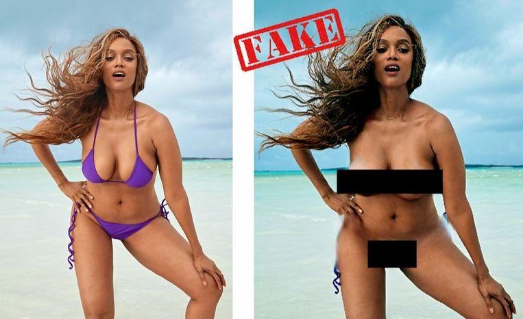 Vice News gebruikte onder meer topmodel en presentatrice Tyra Banks als voorbeeld. Het resultaat ziet er best geloofwaardig uit.