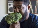 David Carter eet nu volledig plantaardig.