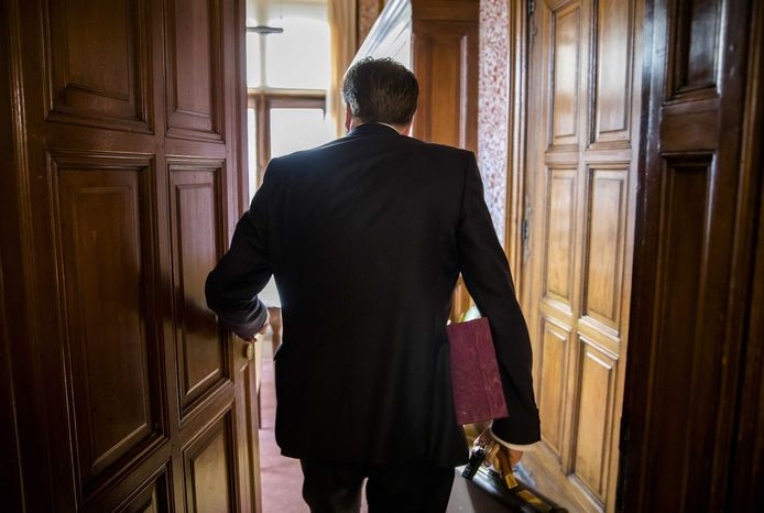 Alexander Pechtold (D66) op zijn laatste dag in de Tweede Kamer.