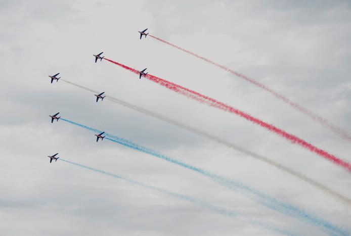 Stuntteam Patrouille de France in actie.
