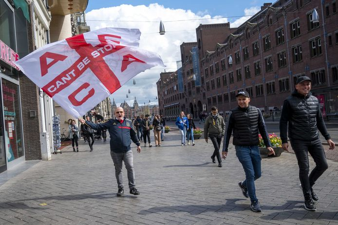 Ajaxsupporters in Amsterdam.