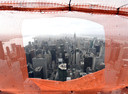 Uitzicht vanaf de 75ste verdieping van de woontoren.