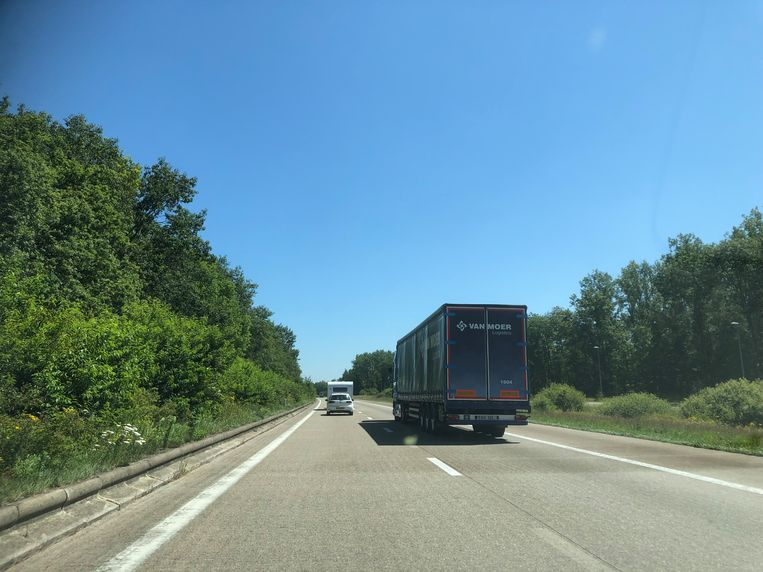 De E34 tussen Oud-Turnhout en de Nederlandse grens