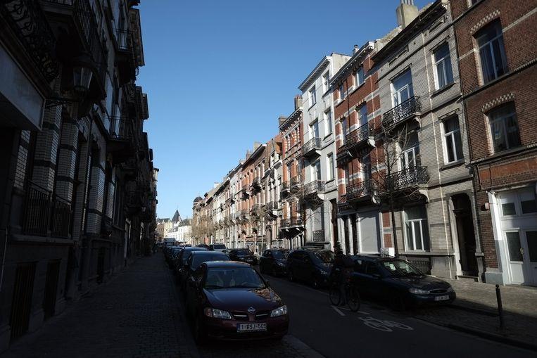 Henri Bergestraat in Schaarbeek. Beeld belga