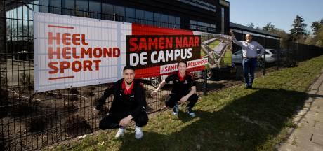 Helmond Sport zet vaart achter nieuwe koers door honderd steunbetuigende spandoeken te vervangen