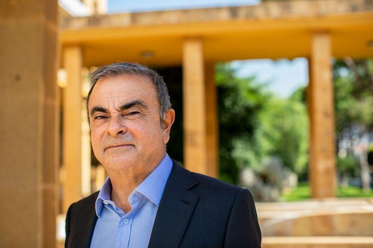 Carlos Ghosn terug in 'zijn' Beiroet. 'Ik vecht voor mijn reputatie.' Beeld RV Oliver Marsden / The Sunday Times Magazine / News Licensing