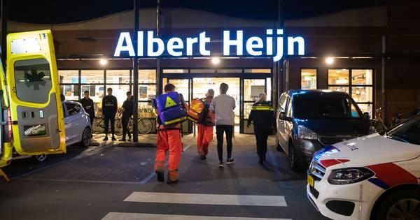 Traumahelikopter geland in Soest na ongeluk in filiaal Albert Heijn.