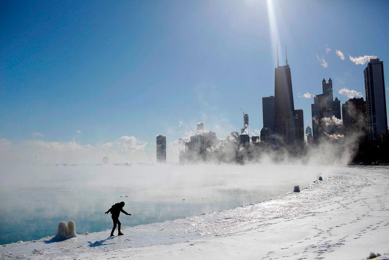 Het barre winterweer levert ook adembenemende beelden op, zoals deze foto's uit Chicago.