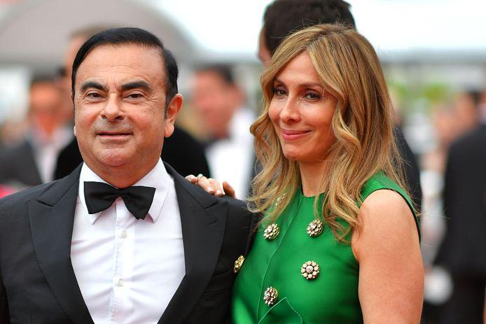 Carlos Ghosn et sa femme Carole, le 26 mai 2017, au festival de Cannes.