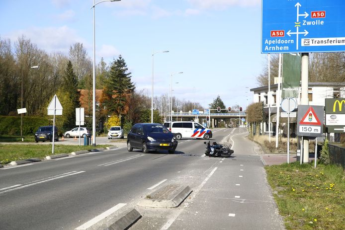 De plek van het ongeluk in Heerde.
