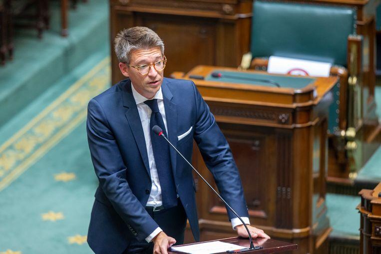 PS-vicepremier en minister van Werk Pierre-Yves Dermagne. Beeld BELGA