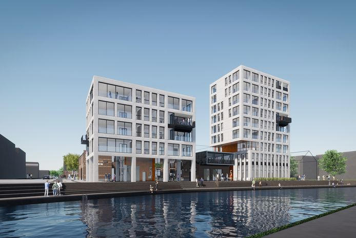 Het voormalige WAR-terrein aan de oevers van de Eem in Amersfoort zou onder de noemer Eemfront plaatsmaken voor woningen, ateliers en bedrijfsruimten.