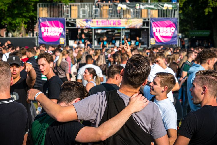 Festival Stereo Sunday in Venlo ging vorig weekend wel door met toegangstesten.  Beeld ANP