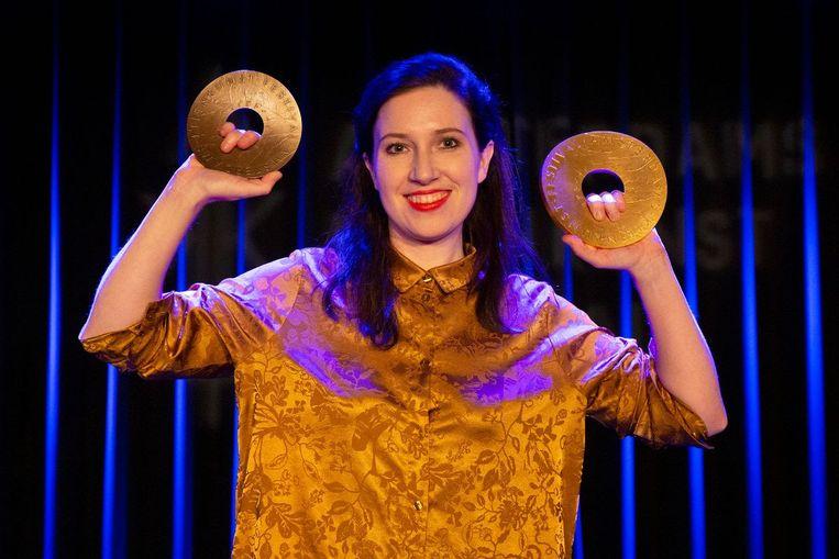 Lotte Velvet wint de dubbel: de AKF Sonneveldprijs én de AKF Publieksprijs    Beeld Anne van Zantwijk