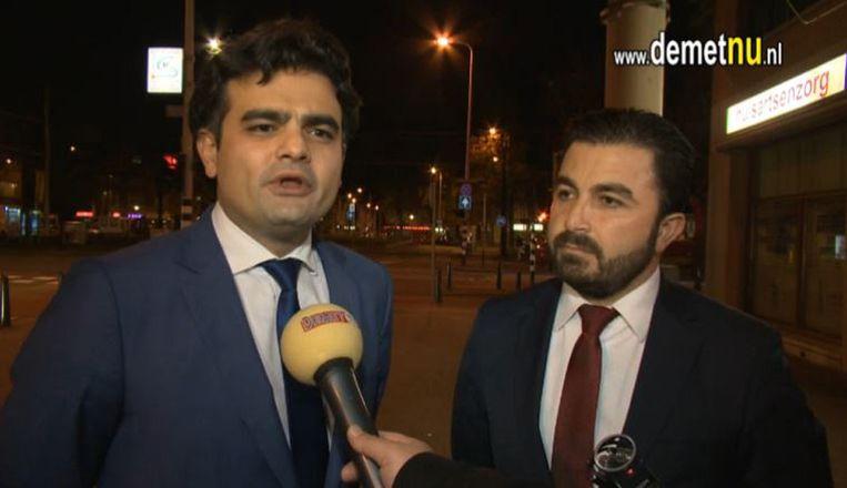 Tunahan Kuzu (R) en Selçuk Öztürk. Beeld Demet TV