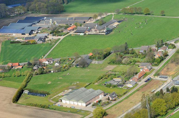 Platteland in de omgeving van Vierlingsbeek in Noord-Brabant.