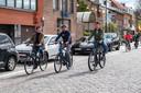 Het trio reed vrijdag de nieuwe toeristische fietsroute in.