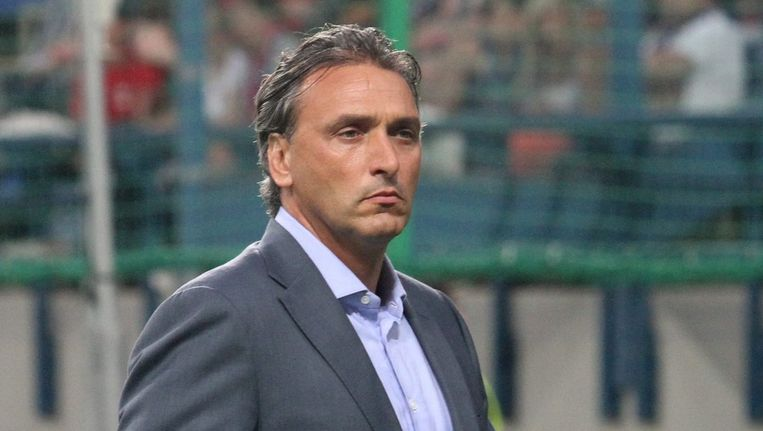 Robert Maaskant bereikte met Wisla niet de groepsfase van de Champions League. Beeld epa