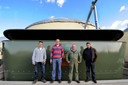 De vier ondernemers achter Biomoer in 2011 toen de uitbreidingsplannen er nog veelbelovend uitzagen. V.l.n.r. Arno Loos, Paul Hulsen, Cees van Tiggelen en Adrie Maas. In februari dit jaar werd het faillissement aangevraagd.