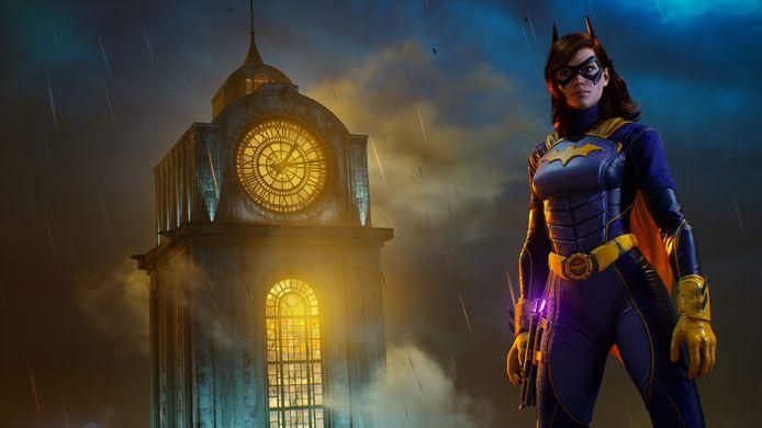 'Artwork' van Batgirl. Let overigens tout court op de heel barokke, duistere sfeer van de game.