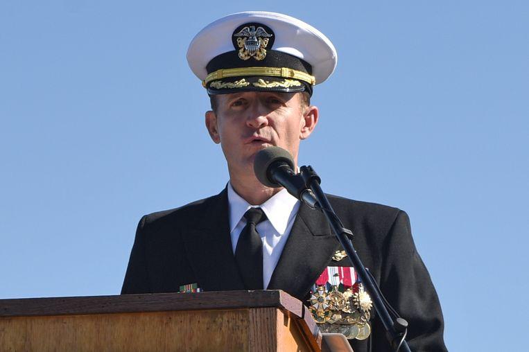 Kapitein Brett Crozier. Beeld via REUTERS