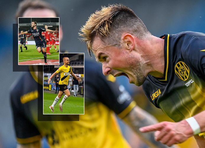 Thijmen Goppel na zijn goal tegen De Graafschap.