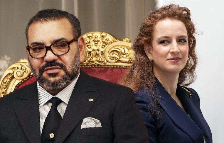 Koning Mohammed VI en prinses Lalla Salma.
