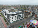 Een zicht op het centrum van Aalter. Het oogt volgebouwd, maar tussen de gebouwen is er ook nog wat groen te zien.