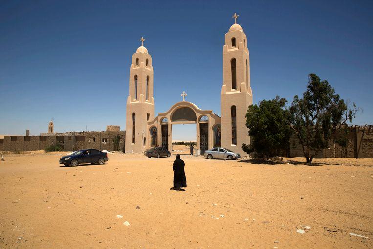 De bus was met een groep christenen op weg naar het klooster van de Heilige Samuel in Minya.