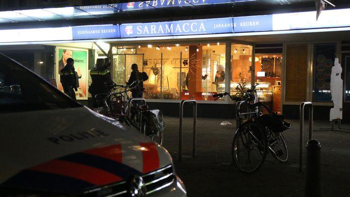 Eerder dit jaar na een overval op een eethuis aan het Heeswijkplein.