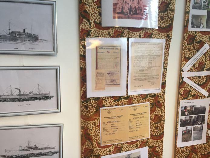 Herinneringen aan boten in het Indisch museum in Breda.