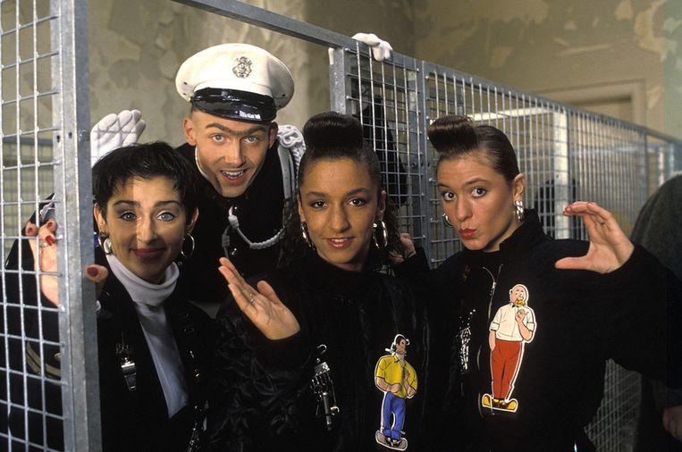 De oorspronkelijke Confetti's in 1989. De formatie scoorde met 'The Sound of C', bedoeld als reclamestunt voor de discotheek Confetti's. Hun commerciële doorbraak betekende het einde van de new beat. Beeld photo news
