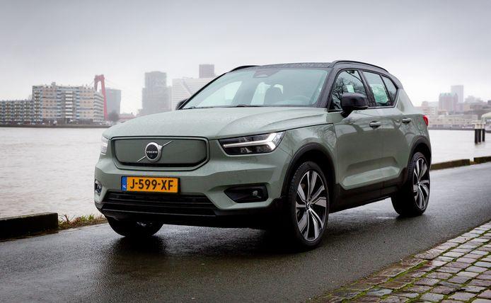 De volledig elektrische Volvo XC40 P8 Recharge is inmiddels ook in Nederland te koop