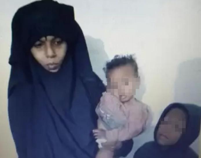 Yusra El Maliji et ses deux enfants