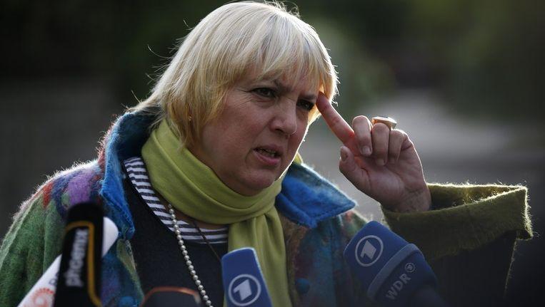 Claudia Roth was sinds 2004 voorzitster van de Groenen. Beeld afp