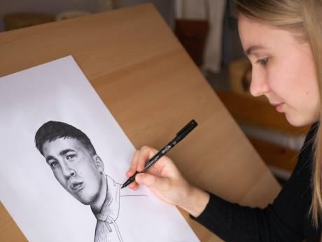 Snelle is al fan: Merlijn uit Deventer maakt waanzinnige tekeningen. Nu wil ze meer