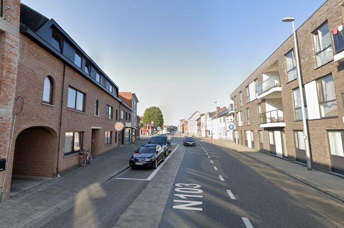 De home-invasion gebeurde in een appartement aan Ginderbroek in Mol