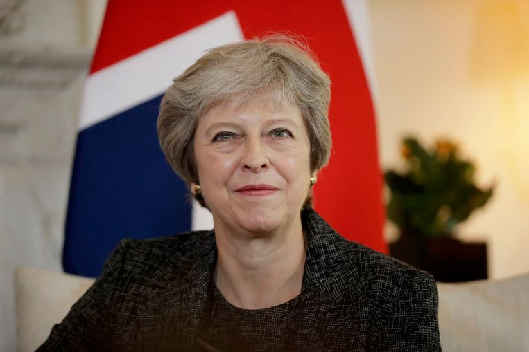 Brits eerste minister Theresa May. Beeld Photo News