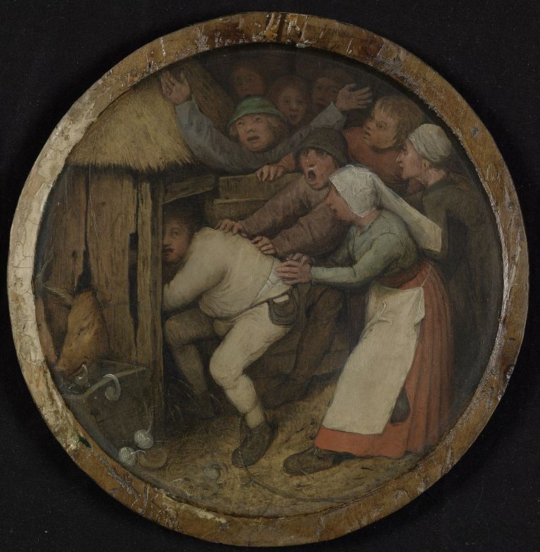Wie een varken is, moet in 't kot, door Pieter Bruegel. Beeld © Museum Boijmans Van Beuningen