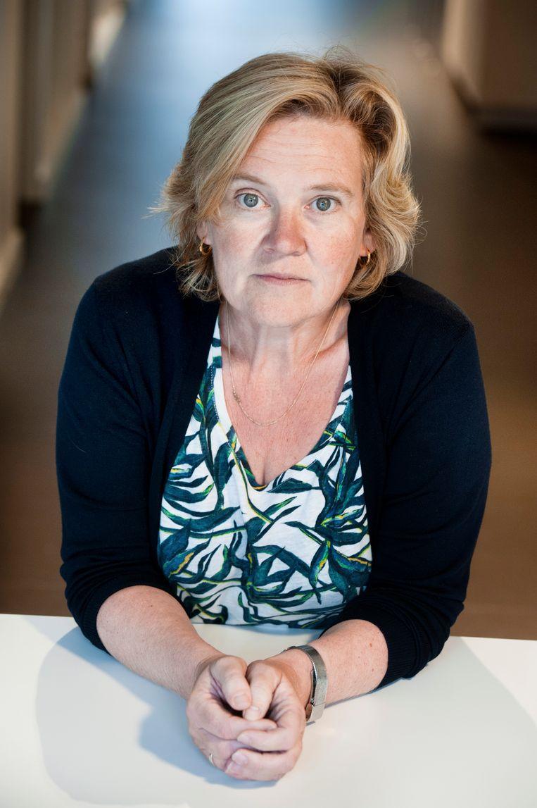 Psychologe Tine Daeseleire van The Human Link.  Beeld Eric de Mildt