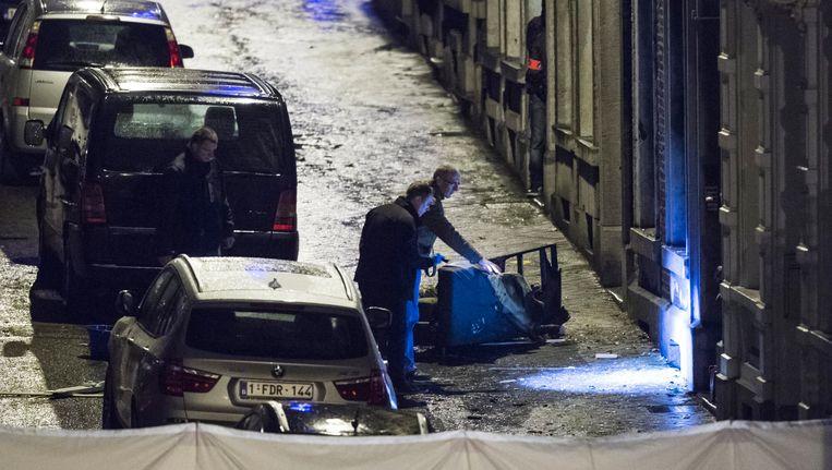 Archiefbeeld van de inval bij de leden van de terreurcel in Verviers. Beeld Photo News