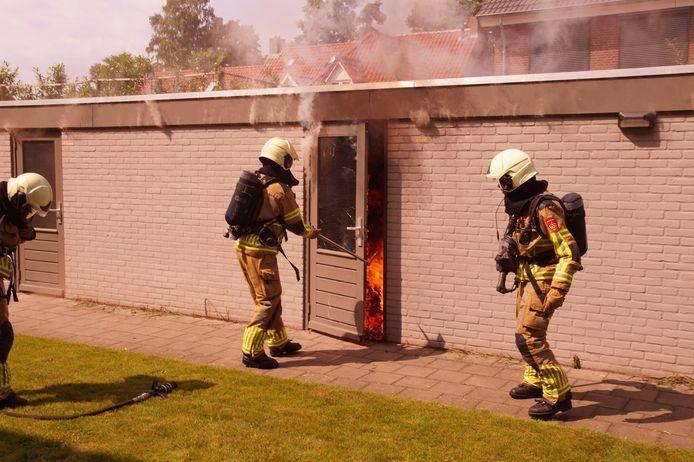 Een schuur in Sprang-Capelle is door brand verwoest.