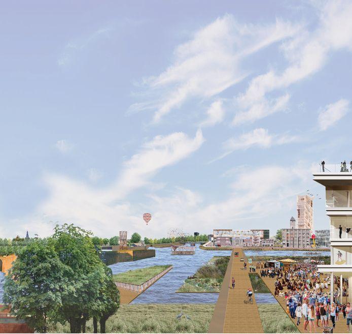 Zo zou de Stadsdelta in Den Bosch er uit kunnen te komen te zien. Het BAI wil daar graag een rol in spelen.