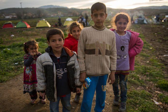 Syrische vluchtelingen in het Griekse Idomeni