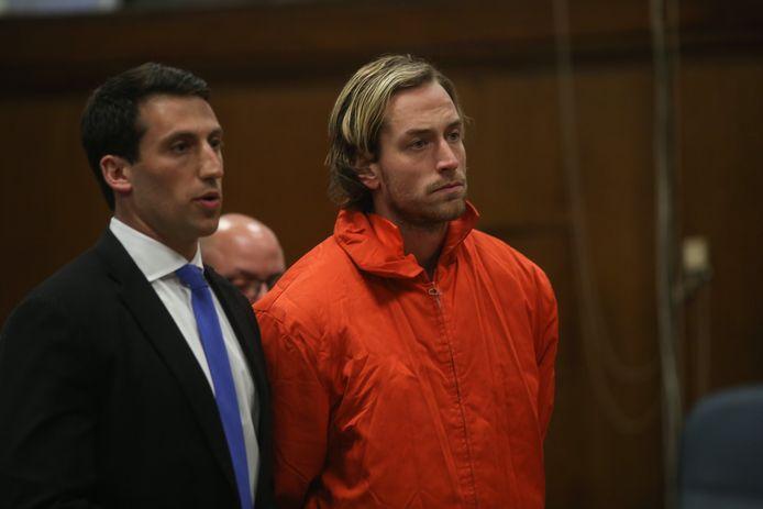 Thomas Gilbert Jr. in de rechtbank (rechts).
