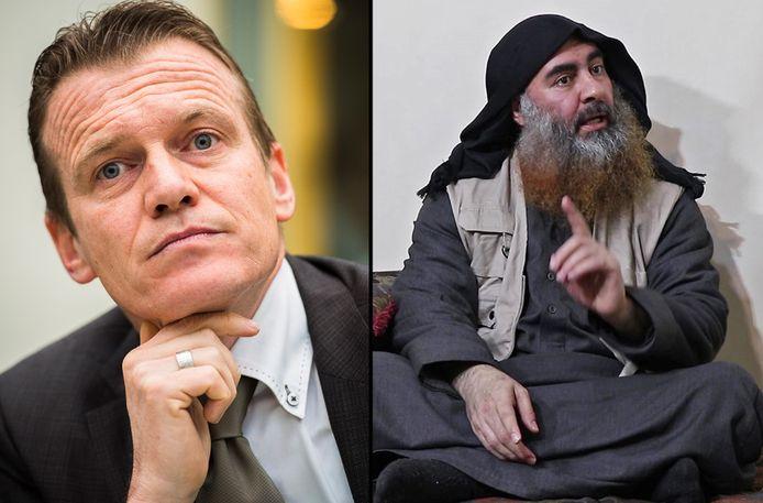OCAD-baas Paul Van Tigchelt en IS-leider Omar Abu Bakr al-Baghdadi.