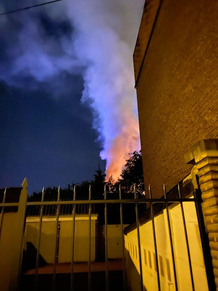 Incendie à la Régie foncière à l'Avenue Mascaux à Marcinelle (Charleroi)