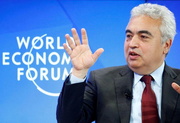 Fatih Birol van het Internationaal Energie Agentschap (IEA). Beeld REUTERS